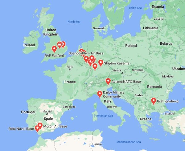 us military bases in europe