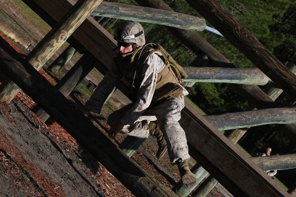A Marine Combat Instructor with MCT