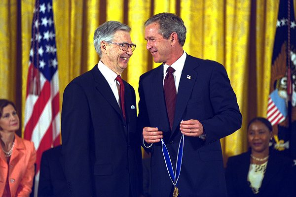 Mr Rogers receives the Presidential Medal of Freedom