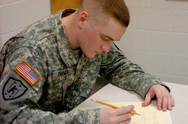 the ASVAB test is just one of many tests one takes in the military