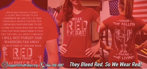RED Fridays to support our troops