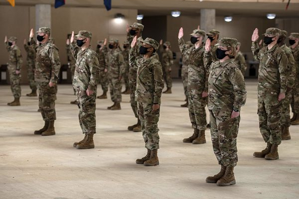 basic training graduates swear in on graduation day