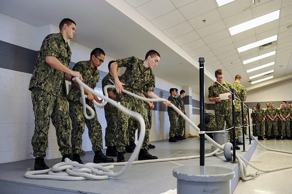 recruits in training wonder what happens after navy boot camp