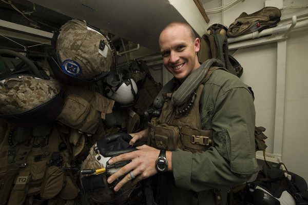 Marine Corps Capt. Benjamin Hovies, a CH-53 Super Stallion helicopter pilot assigned to Marine Medium Tiltrotor Squadron 365