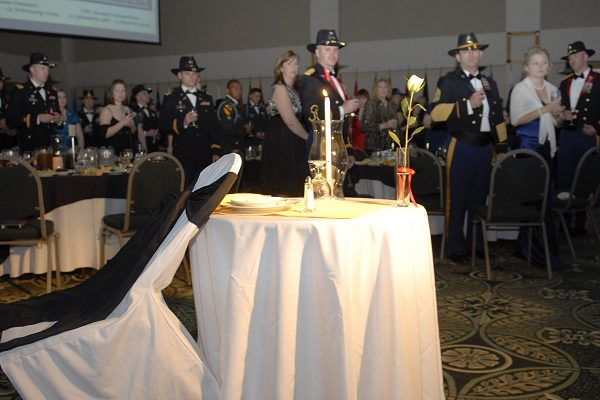 honoring fallen heroes at a military ball