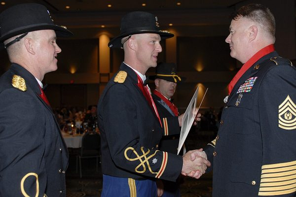 receiving line at a military ball