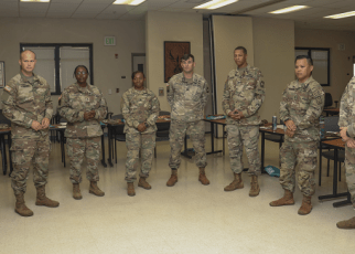 soldiers prepare for army cq duty