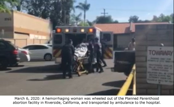 Dad & Young Son Watch as Hemorrhaging Mom is Rushed to Hospital from Riverside Planned Parenthood