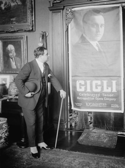 Beniamino Gigli. Celebrated Tenor of the Metropolitan Opera Company