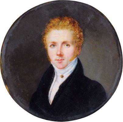 Vincenzo Bellini (1801 -1835) *gouache  *5.8 cm  *circa 1830