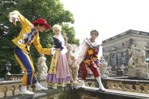 Historischer Stadtrundgang durch Dresdens historische Altstadt im historischen Kostüm
