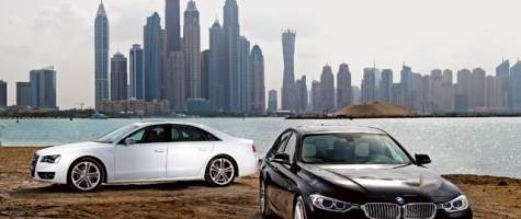wheels car of the year 2012 best premium saloons: Audi S8 and BMW 335i