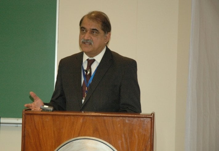 Chairman Planning and Development, Mr. Irfan Illahi, addressing the conference.