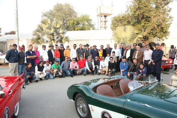 Members of Vintage and Classic Car Club of Pakistan (VCCCP) and INH Automotive Specialists