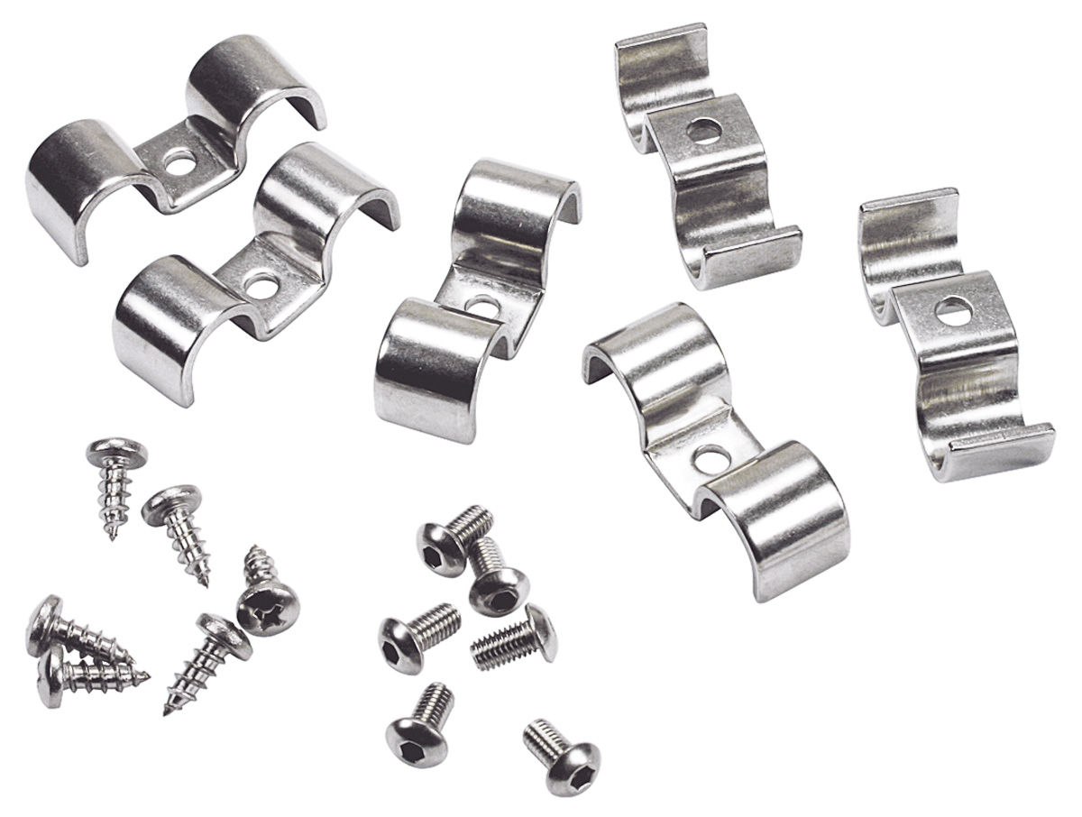 Fuel Amp Brake Line Clamps Stainless Steel Double Tube 1 4