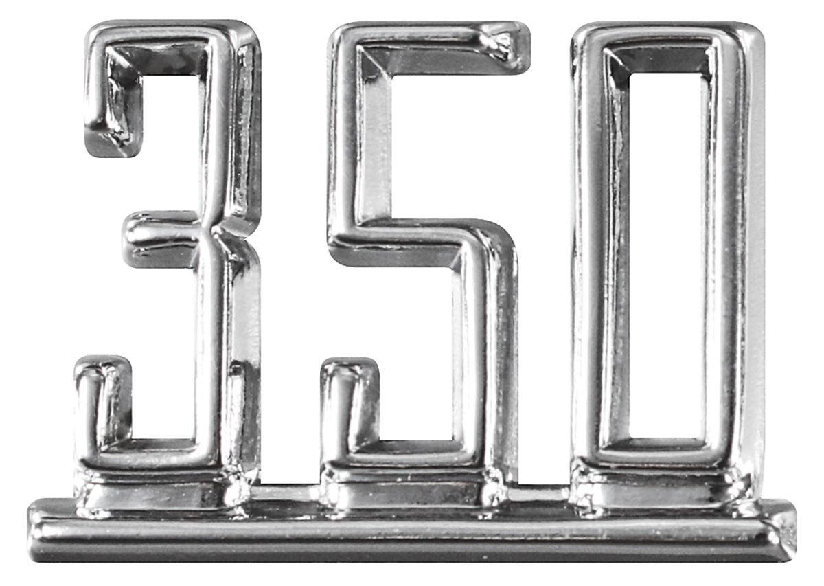 Restoparts Chevelle Fender Emblem 67 350 Fits