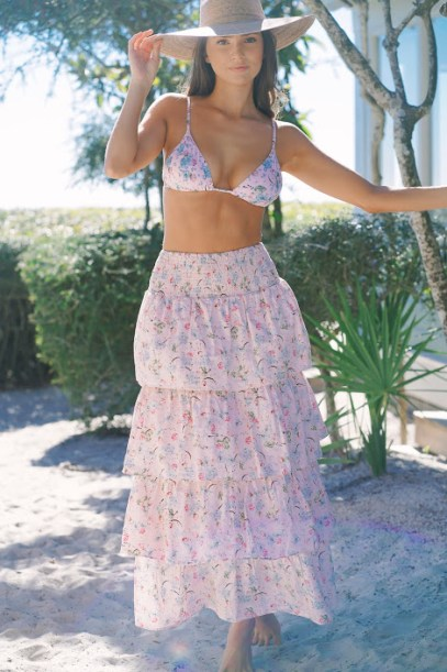 We Wore What Cooper Top Dusty Rose Dry Flowers Front2