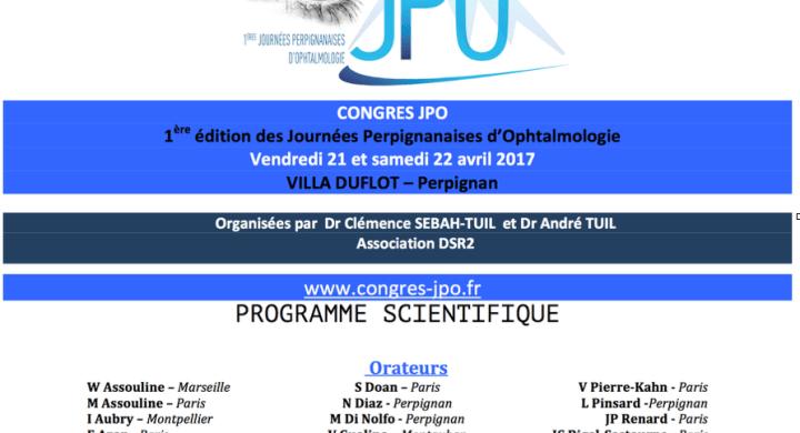 Journées perpignanaises d'ophtalmologie 22 Avril 2017