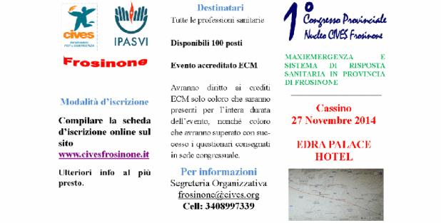 Primo congresso Provinciale del Nucleo CIVES di Frosinone