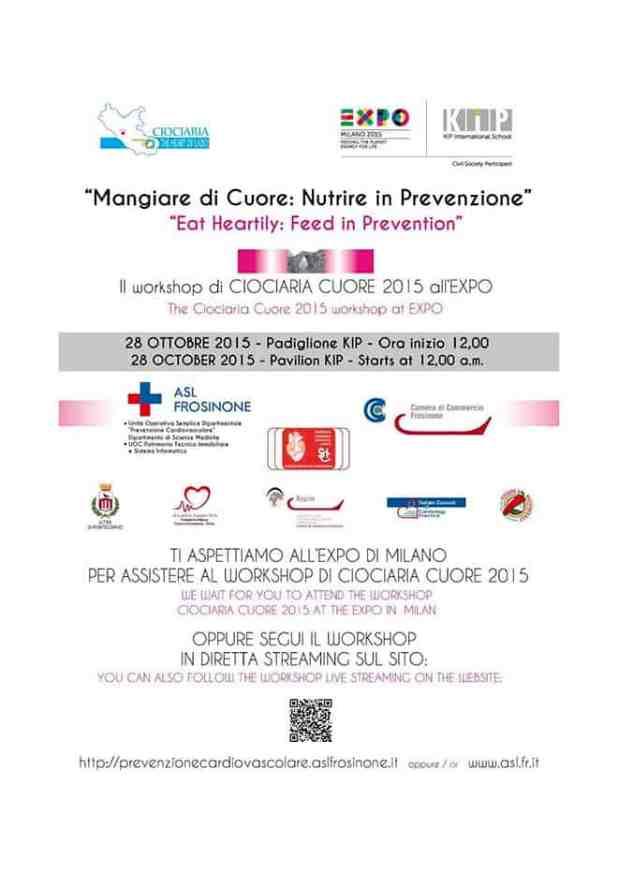 La ASL di Frosinone a Milano con il WorkShop - Mangiare di Cuore: Nutrire in Prevenzione