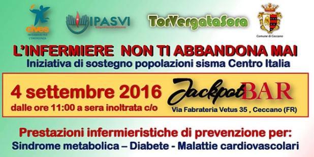 Il 4 Settembre raccolta fondi a favore delle popolazioni colpite dal sisma del Centro Italia