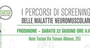I Percorsi di Screening delle malattie Neuromuscolari. Evento accreditato ECM