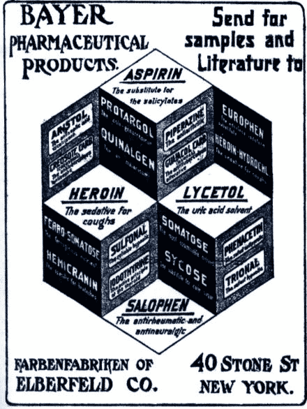 Bayer pharmaceutical products. advertisement - Send for samples and literature.