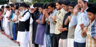 Funeral prayer for Osama in Hyderabad