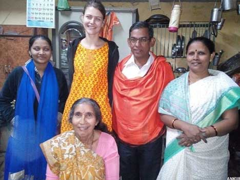 Jashodaben with a group of Christian Missionary
