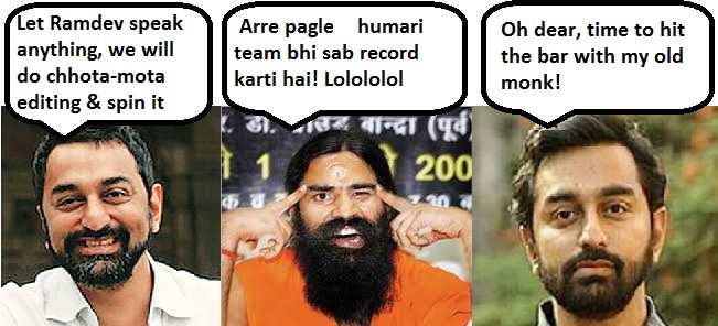 Sreenivasan Jain edits embarrassing portions from Ramdev's interview, gets exposed
