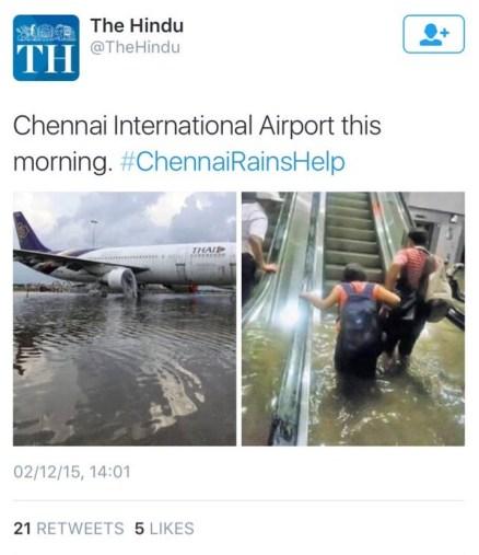 The Hindu Chennai Delhi rains