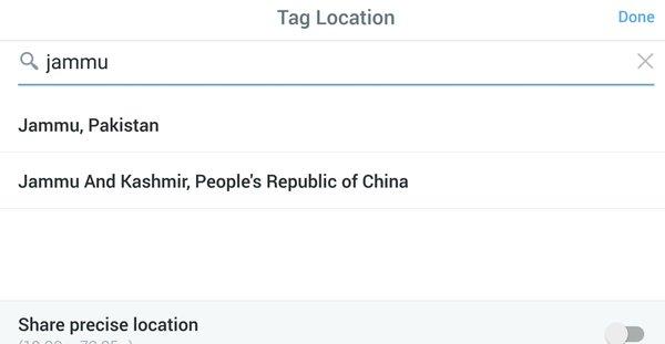 Jammu as per Twitter