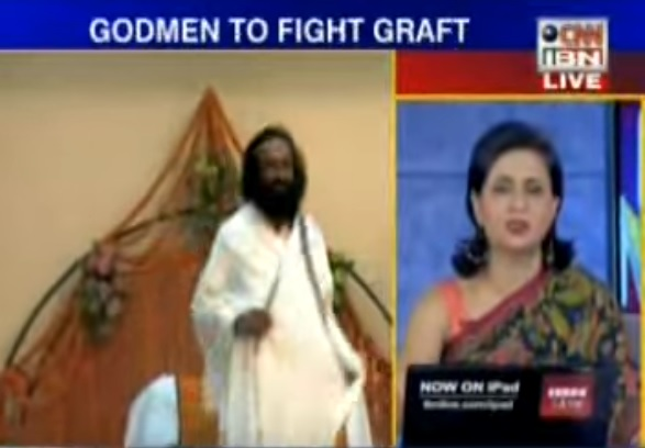 "Art of Living Swami accuses Sagarika Ghose of pleading for mercy from Sri Sri for ""peddling lies"""