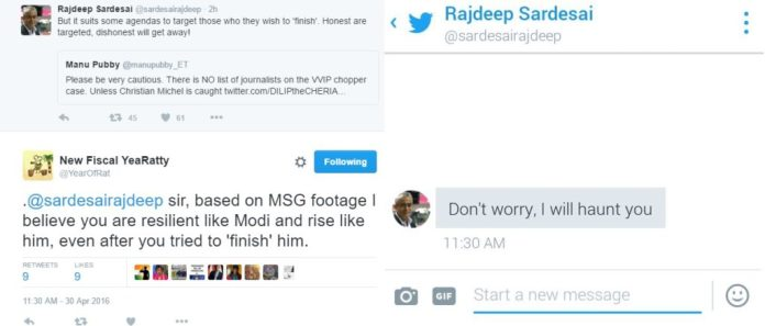 Rajdeep threatening?