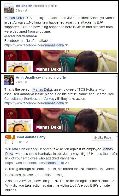 Attack on Manas Deka on facebook