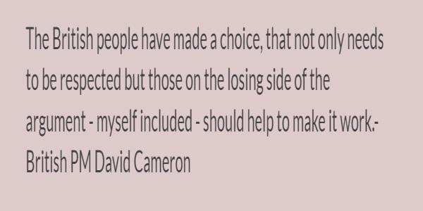 Cameron's statement