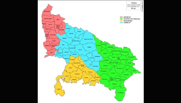 Uttar Pradesh split into smaller states