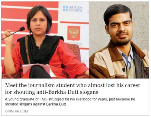 Meet the journalism student who almost lost his career for shouting anti-Barkha Dutt slogans