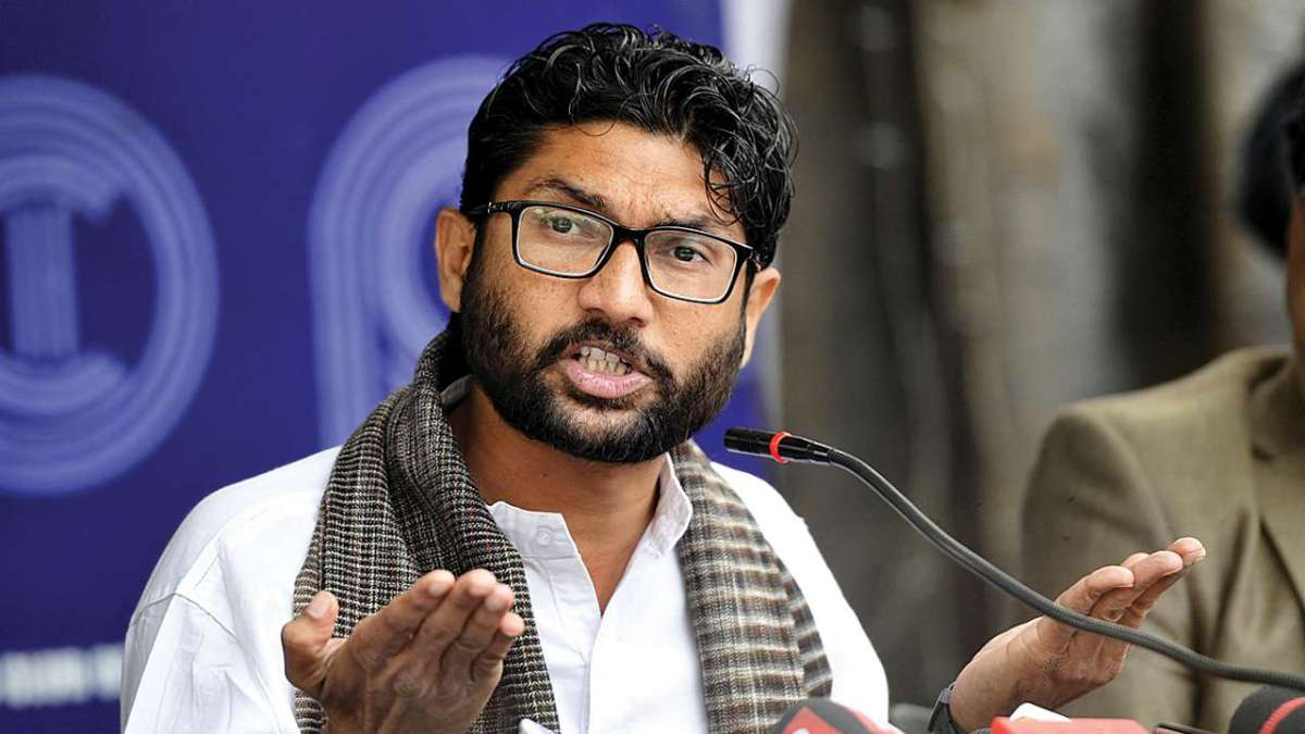 Mevani demands removal of Republic TV journo,  journalists say, 'No need of your press conference'