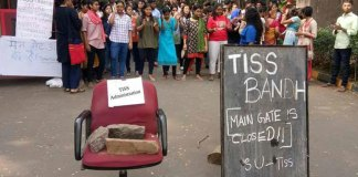 Leftists protest at TISS