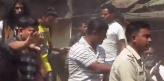 TMC workers beat up Visva Bharti students who were protesting against cutting of trees