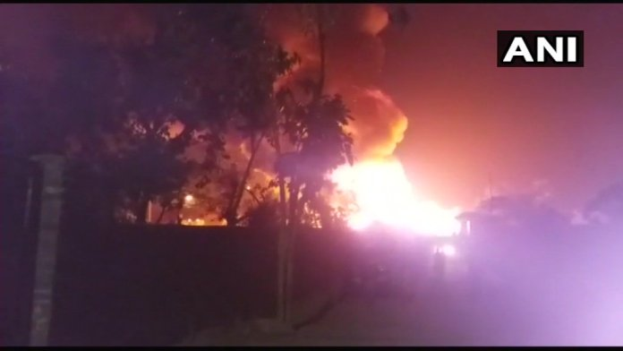 Rohingya camp caught fire in kalindikunj area