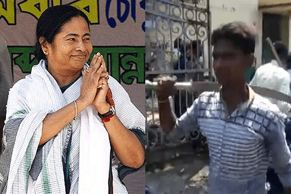 TMC, which objected to ceremonial weapons during Hindu festivals, carries weapons during polls