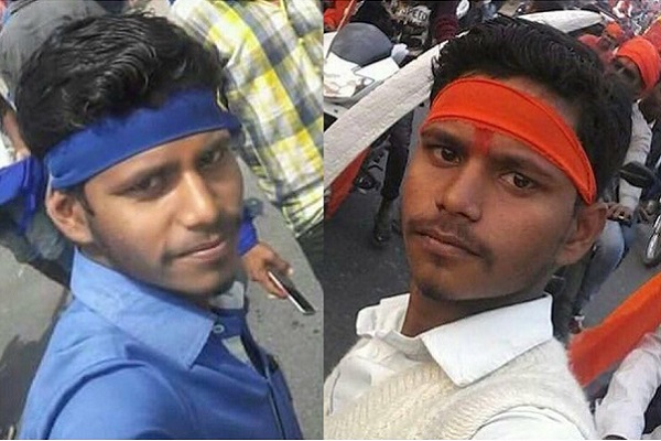 Social Media abuzz with speculation of same person being Karni Sena activist and Dalit protester