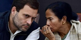 Congress President Rahul Gandhi and TMC chief Mamata Banerjee