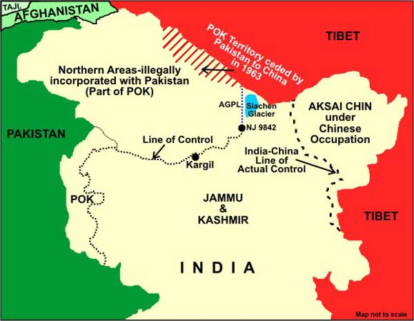 Actual Map Of India.Indian Express Displays Wrong Map Shows Pakistan Occupied Kashmir