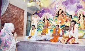 Sheikh Hasina visiting Dhakeshwari Temple