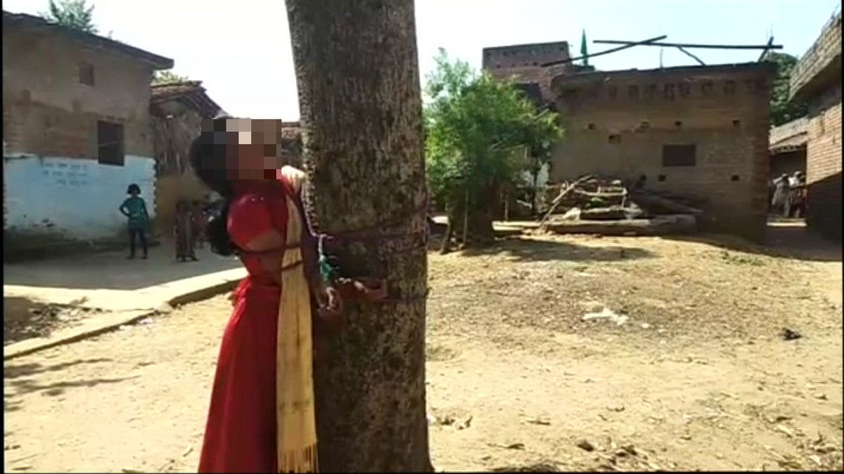 Bihar: 18-year-old Muslim girl tied to the tree and thrashed for falling in love with a Hindu man