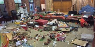 Bharathiye Mandir in Sydney after attack by vandals
