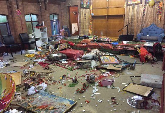 Bharathiye Mandir in Sydney after attack by vandals